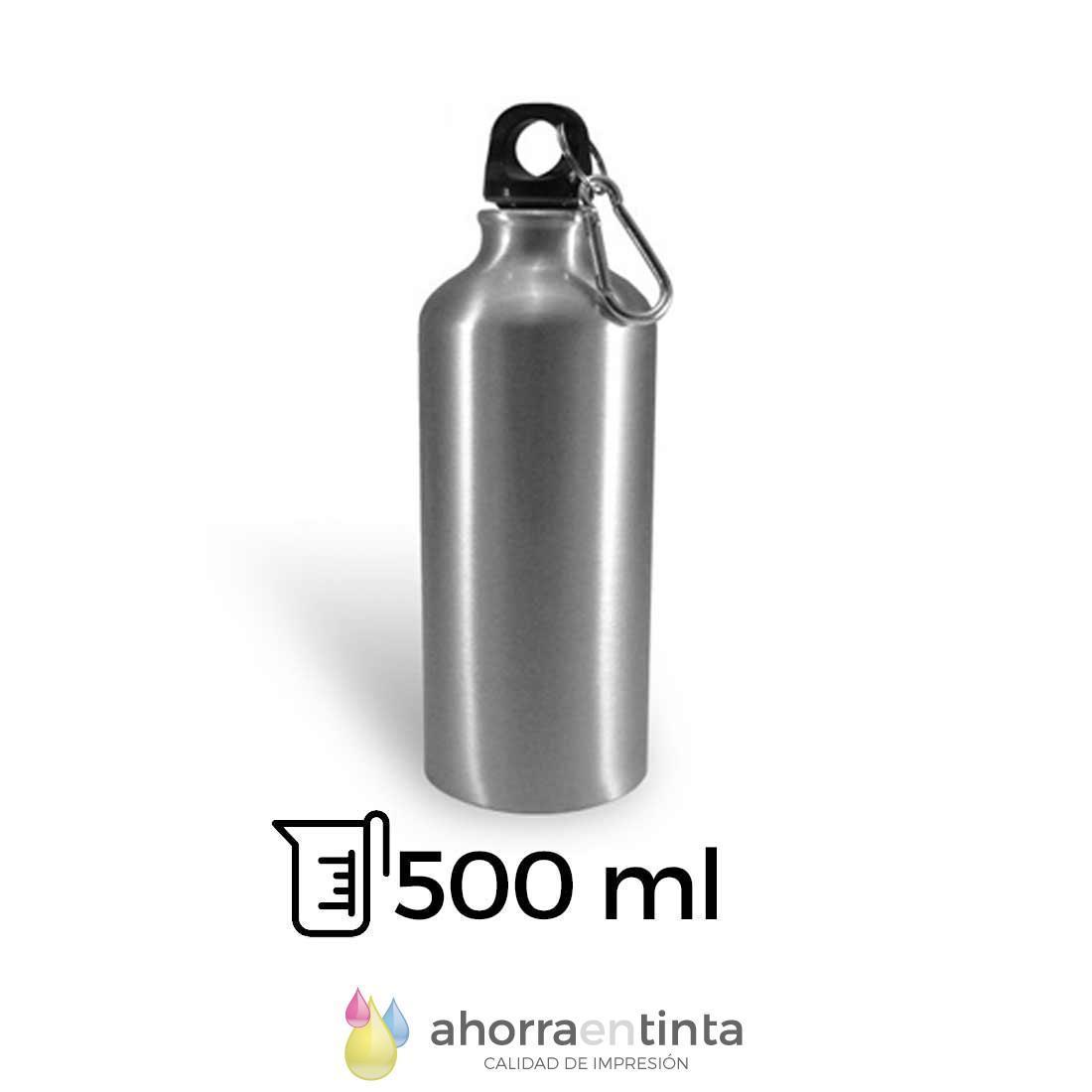 foto producto termo para sublimación 500 ml capacidad color plateado