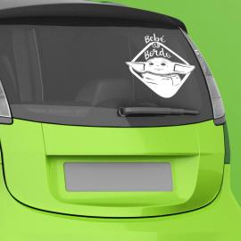 Pegatina de coche baby Yoda